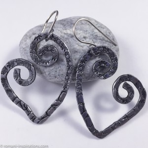 Imperfect Hearts Swirl Earrings (Aluminum)
