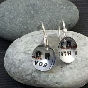 Serenity Words Earrings (Aluminum Can)